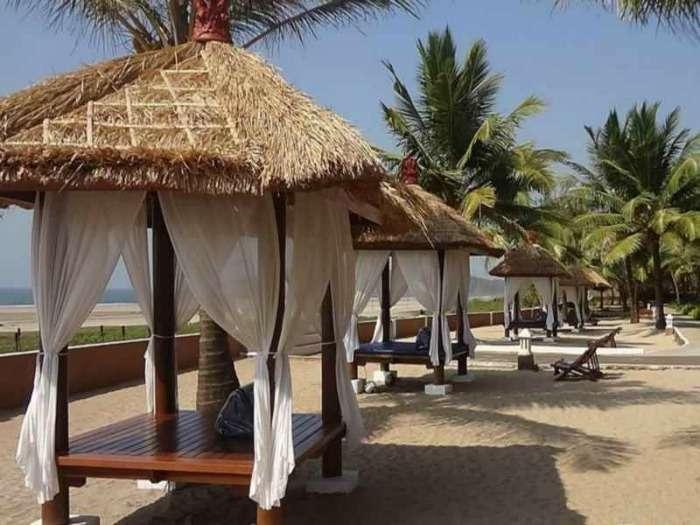 Romantic view of the beach at Blue Ocean Resort & Spa, Ratnagiri, Maharashtra