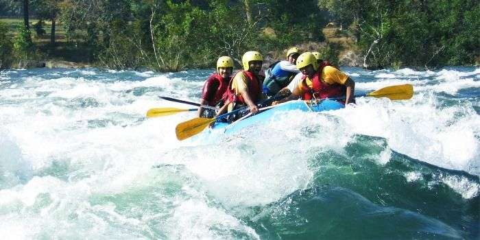 Get drenched in the chilling water while rafting in Brahmaputra River