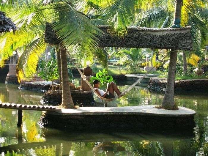 A charming hammock at Cherai Beach Resorts, Cochin, Kerala