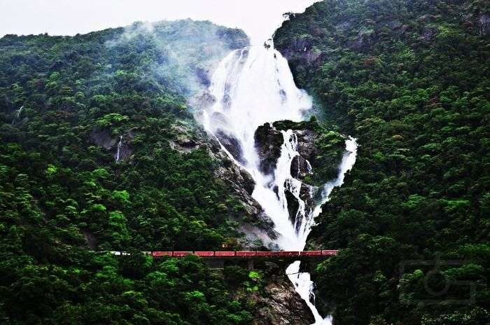 Dudhsagar, the milky white waterfall of Goa