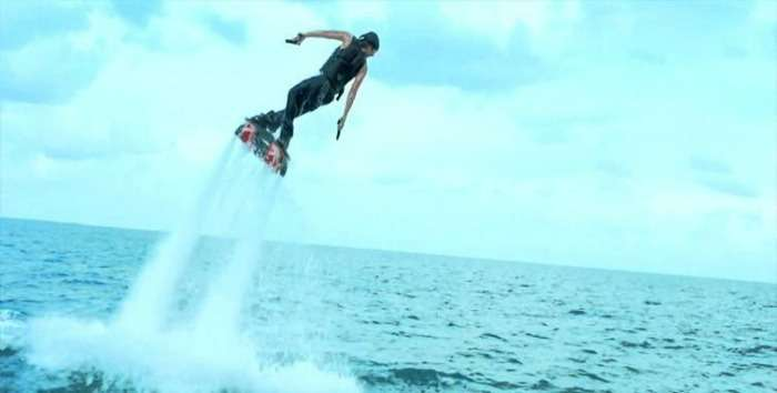 The daunting adventure- Flyboarding in Goa