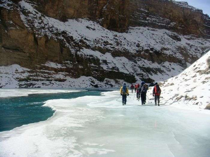 Try the unusual expedition of walking on a Frozen Zanskar River