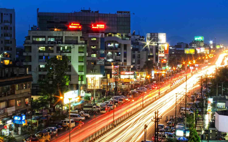 City lights of Guwahati