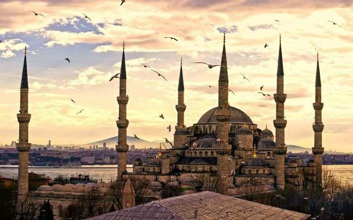 Istanbul city - an interesting mix of Christian and Islamic architecture, Turkey