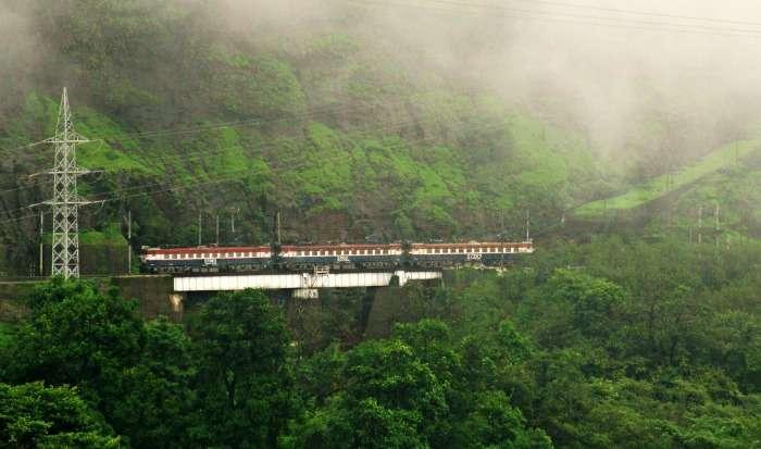 Train journey in Karjat