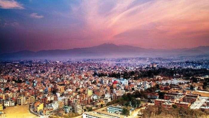 Aerial View of Kathmandu city, Nepal