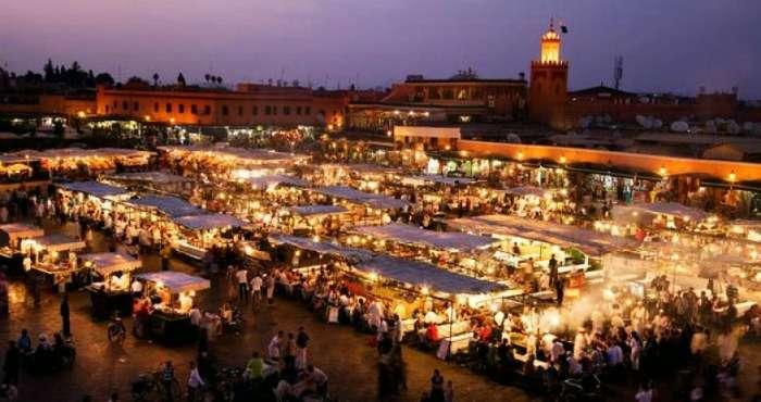 Jamaa el Fna - a market place in Marrakech, Morocco