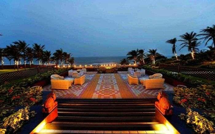 Romantic evening at Mayfair Palm Beach Resort, Ganjam, Orissa