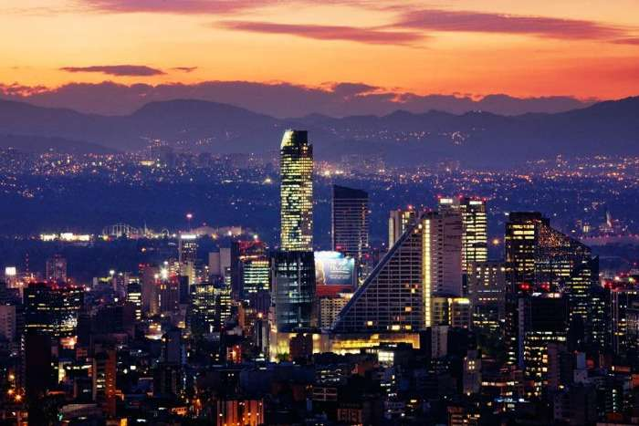 Tall and Bright Buildings of Mexico City