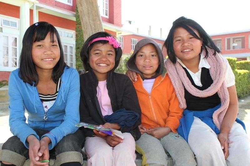 School kids in Mizoram, Northeast India