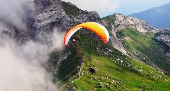 Paragliding from Solang Valley, Manali