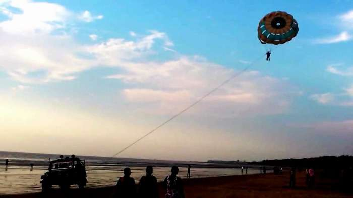 Parasailing at Jampore Beach, Daman