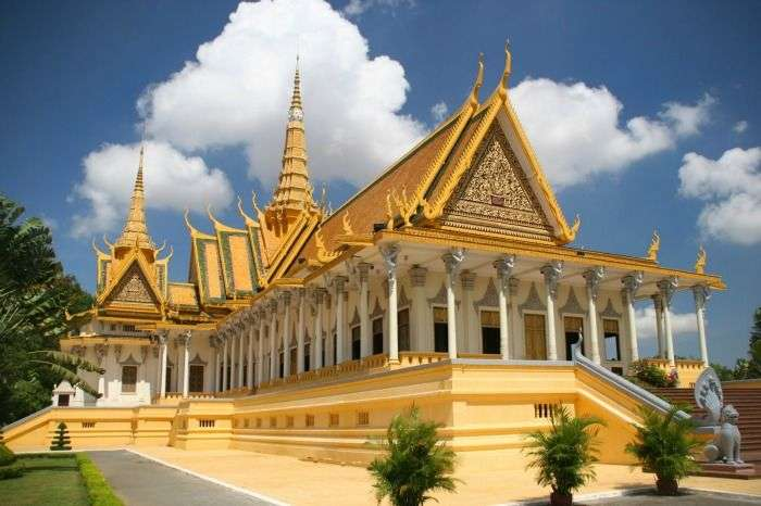 The throne hall inside the Royal Palace complex, Phnom Penh Cambodia