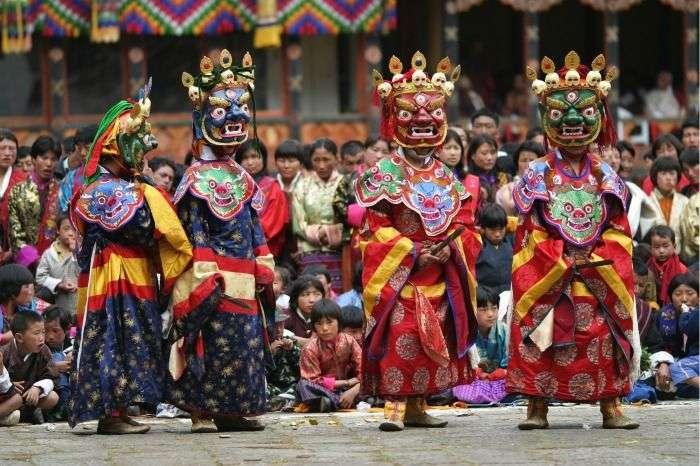 Punakha Masked Festival celebration in Punakha Dzong