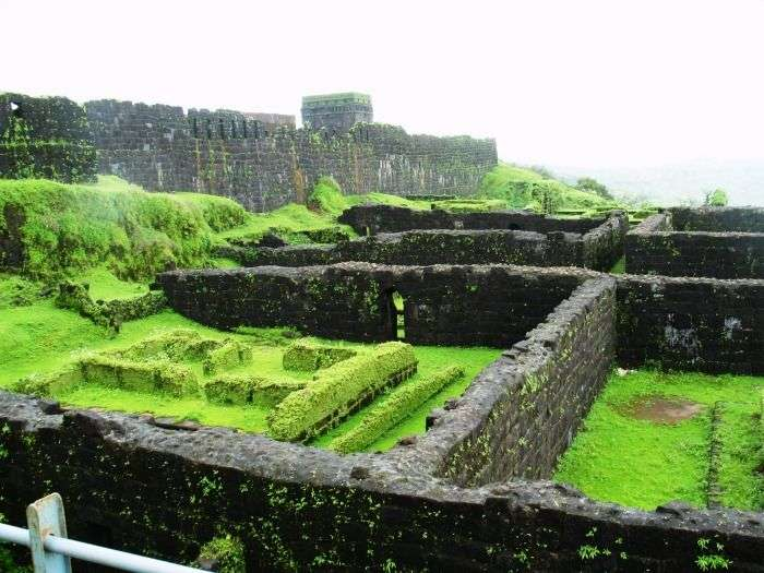 The historic Raigad Fort at Raigad