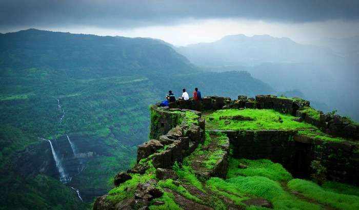 View from Rajmachi Fort in Lonavala