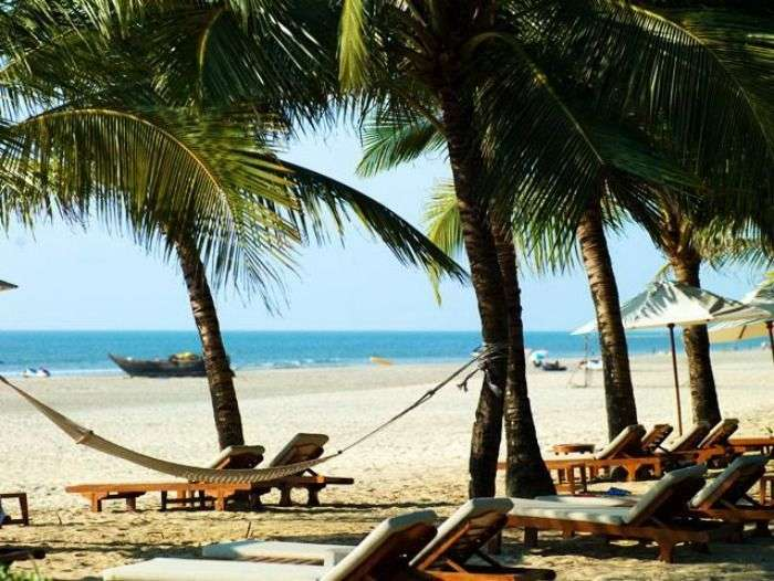 Beach view from Ramada Caravela Beach Resort, Goa