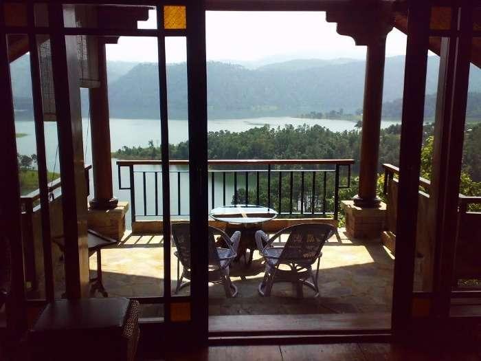 Ri Kynjai Shillong, overlooking the serene Umiam Lake and Khasi Hills