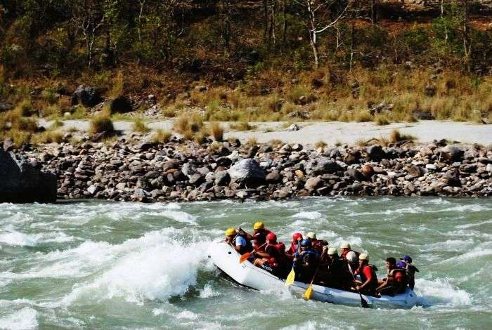 White water rafting in the Ganges river at Rishikesh