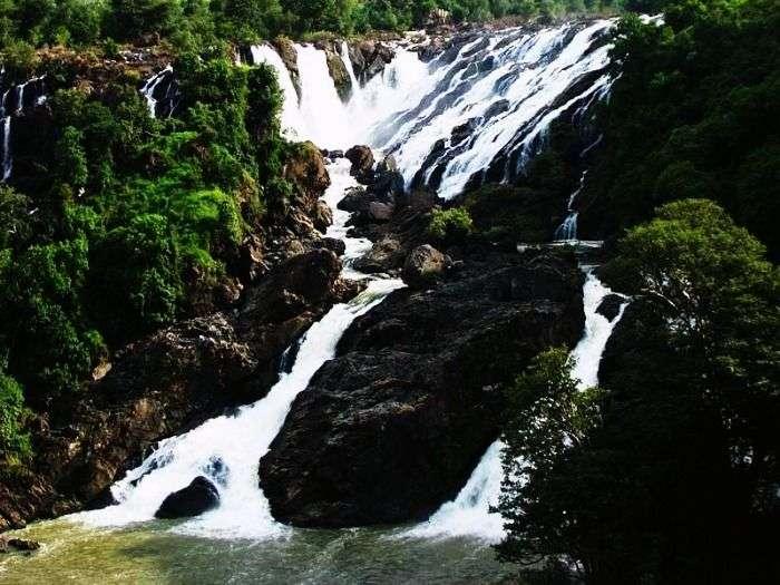 Famous waterfall in Karnataka, Shivasamudram