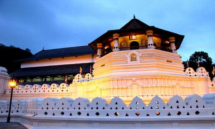 Temple of Tooth Kandy in Sri Lanka