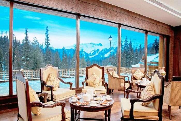 The Khyber Resort for an absolutely stunning vistas of the mountains and pines, Gulmarg
