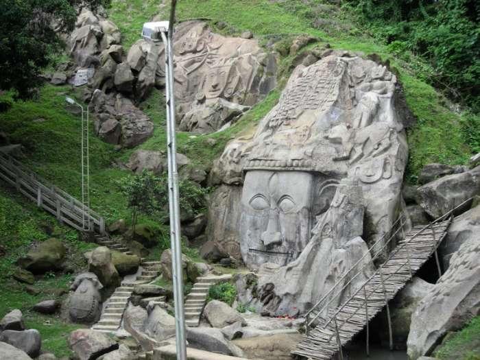 Rock sculpture in Unakoti, Tripura