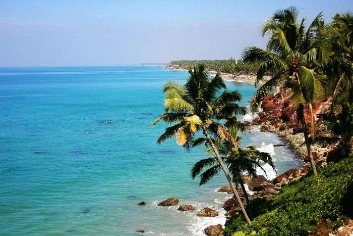 North Cliff Beach in Varkala