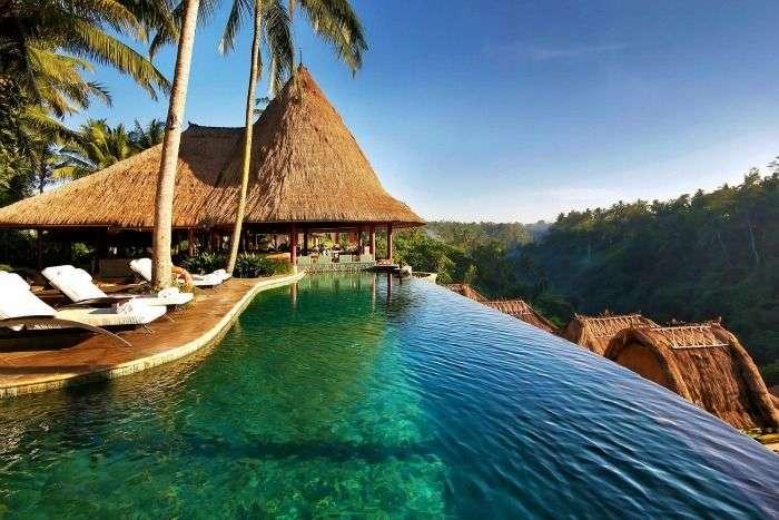 Beautiful Swimming Pool at Viceroy Bali Resort in Indonesia