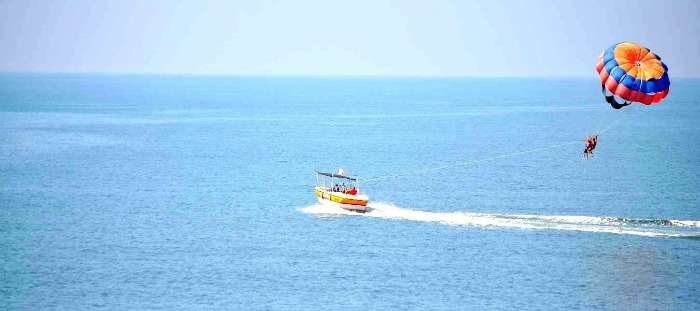 Goa is an ideal holiday destination for water sports