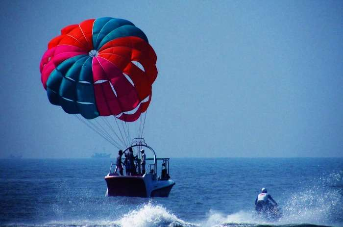 Parasailing at Alibaug