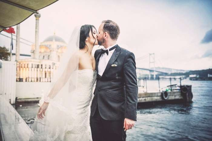 A newly married couple in Turkey