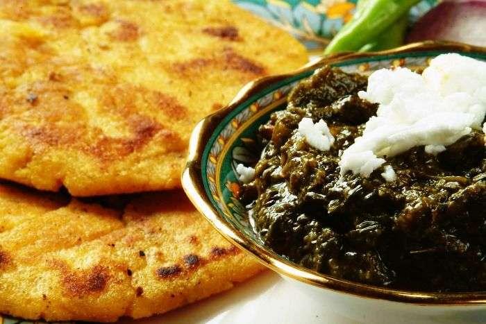 Makke di roti & butter loaded sarson da saag at Aabshar Dhaba