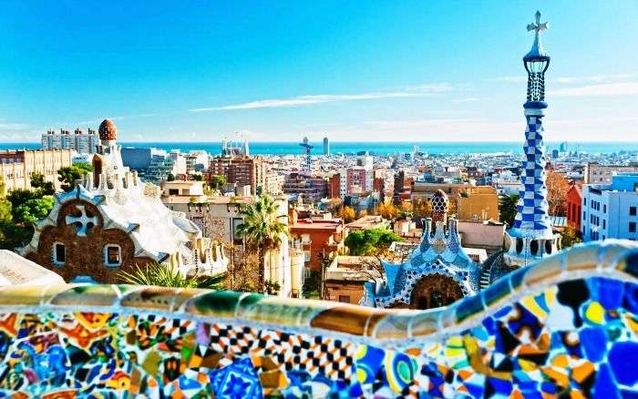 Picturesque view of Barcelona