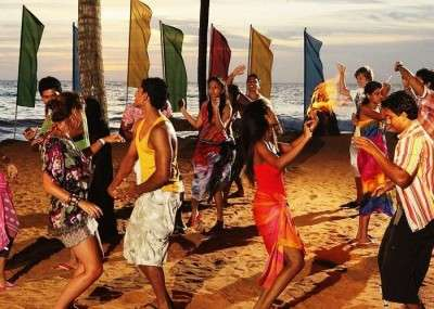 Beach Party in Sri Lanka