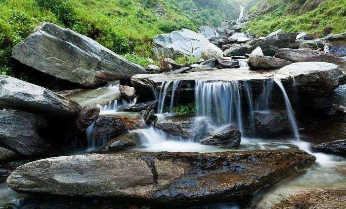 The beautiful waterfall in Himachal Pradesh, Bhagsu