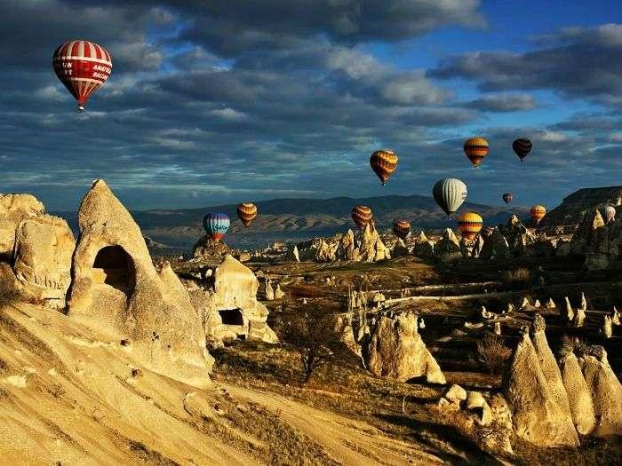 Hot Air Balloon ride in Cappadocia in Turkey