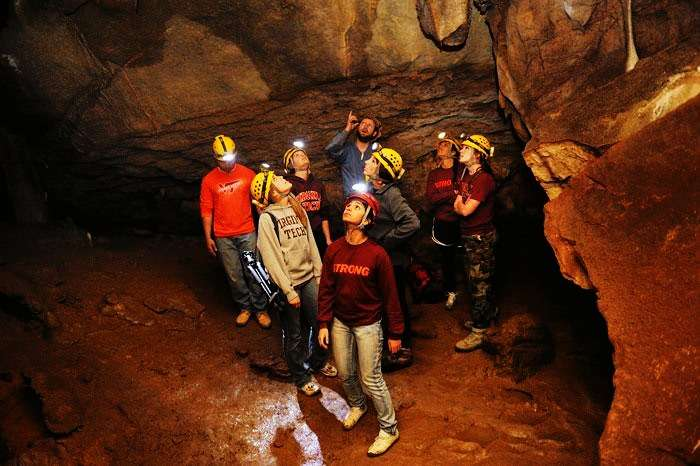 Caving with friends in Meghalaya