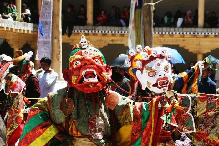 Chhams performed by Llamas during the Hemis festival in Ladakh