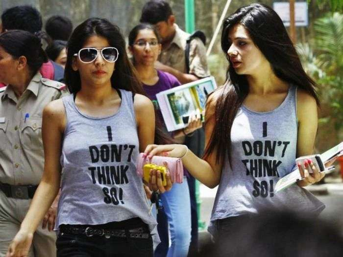 fashionable girls from Delhi University