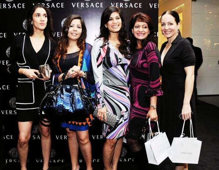 Elite women of Delhi at a Versace event