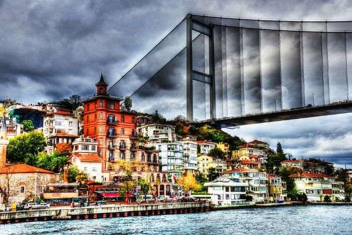 Fatih Sultan Mehmet Bridge over the Bosphorus in Istanbul