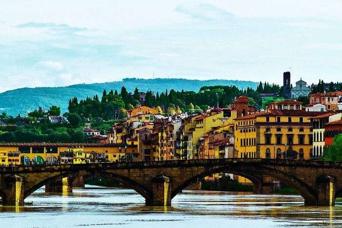 The surreal view of Florence in Italy