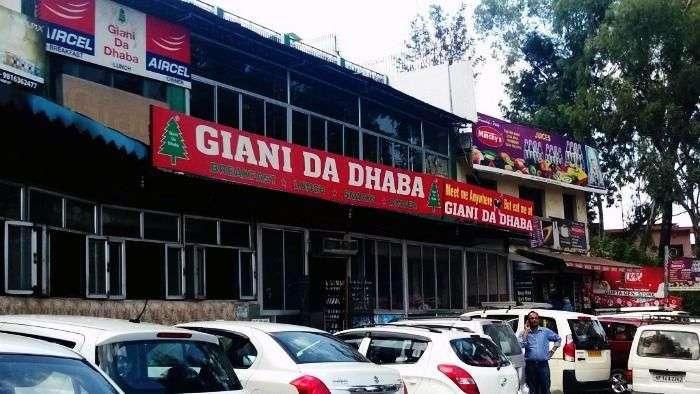 Stop by Giani da dhaba on your way to Shimla