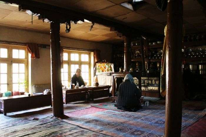 Homestay Kitchen at Rumback in Ladakh