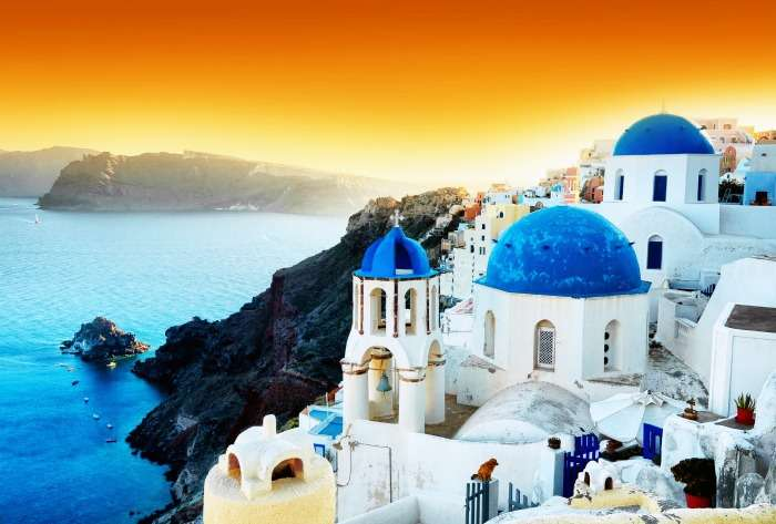 beautiful view of Greece