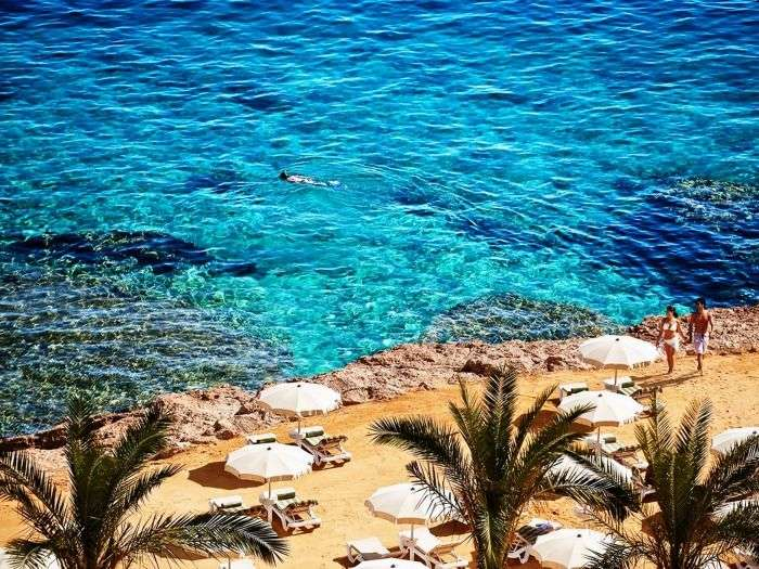 The Blue waters of the Beaches of Hurghada