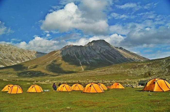 Camping site at Kashmir Great Lakes