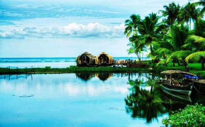 View of the backwaters in Kumarakom