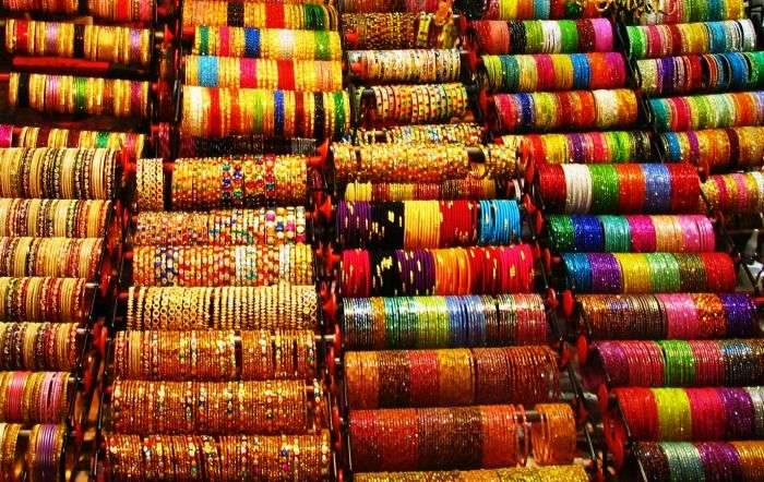 A bangle shop in Laad Bazaar in Hyderabad